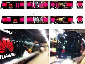 Reinzeichnung / Straßenbahn HUAWEI